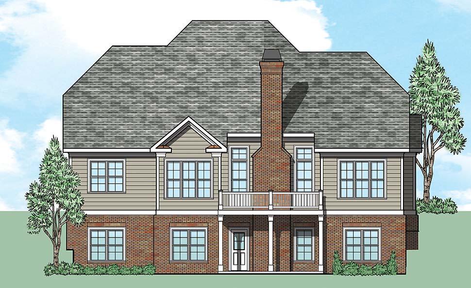 European Traditional Tudor House Plan 83085 Rear Elevation