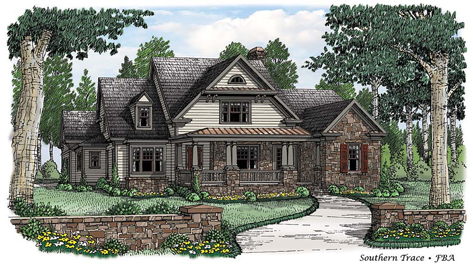 Bungalow, Cottage, Country House Plan 83086 with 4 Beds, 5 Baths, 3 Car Garage Elevation