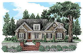 Traditional House Plan 83089 with 3 Beds, 3 Baths, 2 Car Garage Elevation