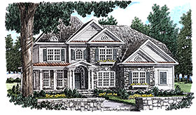 Traditional , Southern , Country House Plan 83091 with 5 Beds, 4 Baths, 2 Car Garage Elevation
