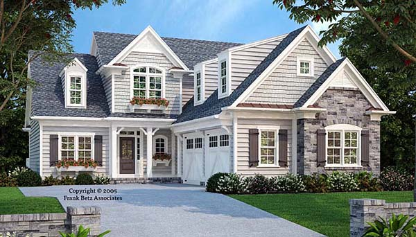 Cottage Country Craftsman Southern Elevation of Plan 83092
