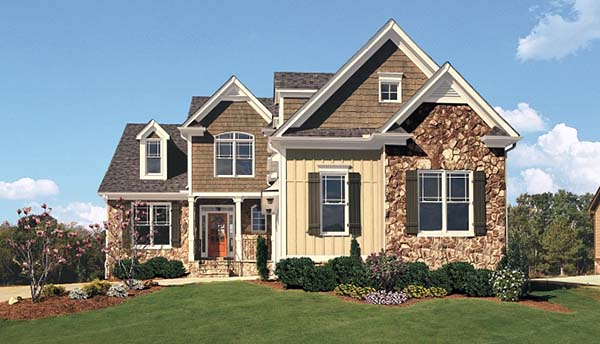 House Plan 83092 | Cottage Country Craftsman Southern Style Plan with 1975 Sq Ft, 3 Bedrooms, 3 Bathrooms, 2 Car Garage