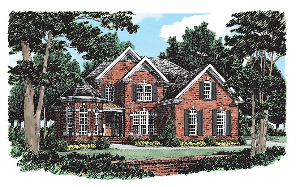 Traditional House Plan 83094 with 3 Beds, 3 Baths, 2 Car Garage Picture 8