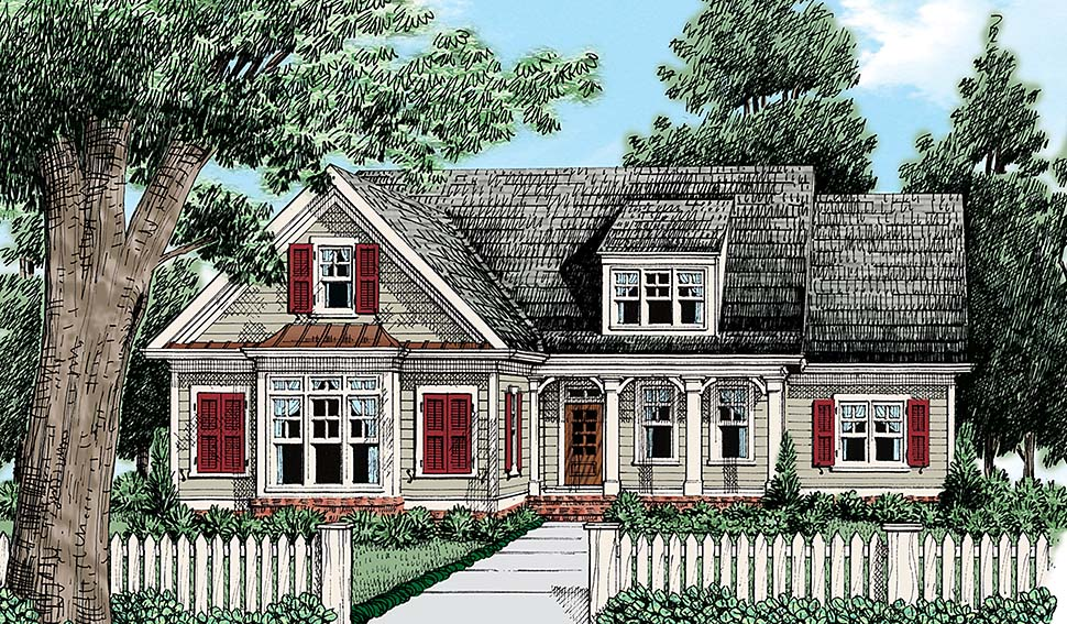 Cottage Country Traditional Elevation of Plan 83095