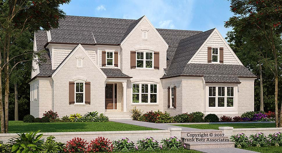 European, Traditional, Tudor House Plan 83098 with 4 Beds , 5 Baths , 2 Car Garage Elevation