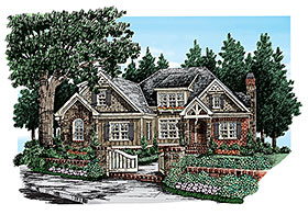 Cottage Country Craftsman Southern House Plan 83100 Elevation