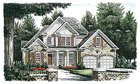European Traditional House Plan 83102 Elevation