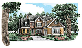 Cottage Craftsman European Traditional House Plan 83106 Elevation
