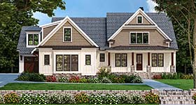 House Plan 83107 | Craftsman Farmhouse Modern Style Plan with 2594 Sq Ft, 4 Bedrooms, 4 Bathrooms, 3 Car Garage Elevation
