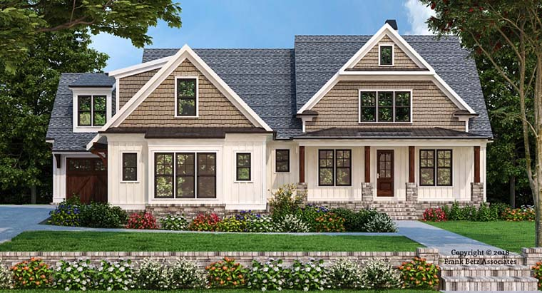 Craftsman Farmhouse Elevation of Plan 83107
