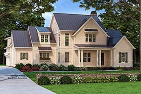 Country , Farmhouse , Traditional House Plan 83108 with 5 Beds, 5 Baths, 3 Car Garage Elevation