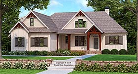 House Plan 83109 | Craftsman Farmhouse Modern Style Plan with 2187 Sq Ft, 3 Bedrooms, 2 Bathrooms, 2 Car Garage Elevation