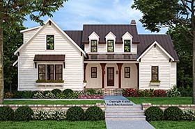 Country , Farmhouse , Traditional House Plan 83110 with 4 Beds, 4 Baths, 2 Car Garage Elevation