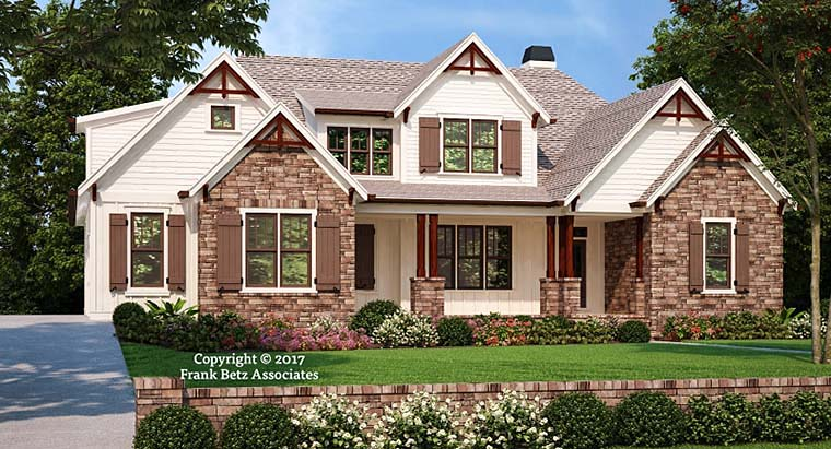 Craftsman, Modern House Plan 83111 with 3 Beds, 3 Baths, 2 Car Garage Elevation