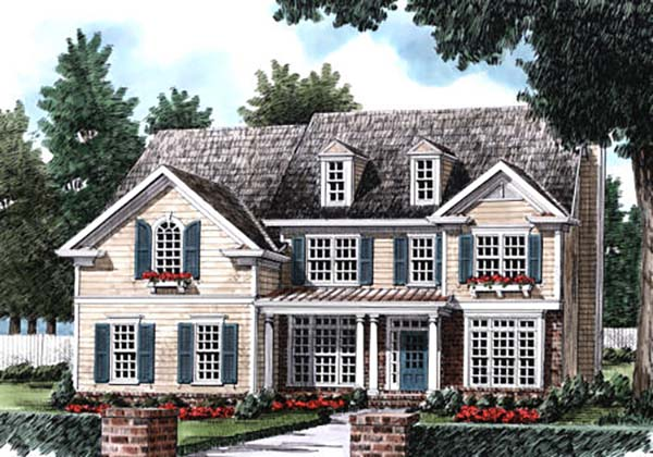 European, Traditional House Plan 83119 with 5 Beds, 3 Baths, 2 Car Garage Picture 1