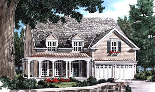 Cottage, Country, Traditional House Plan 83120 with 4 Beds, 3 Baths, 2 Car Garage Elevation