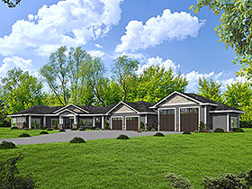 Ranch House Plan 85100 with 3 Beds, 3 Baths, 4 Car Garage Elevation