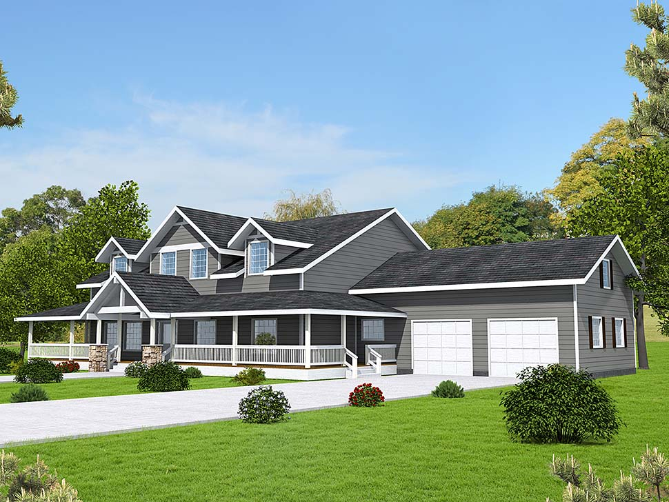 Country Traditional Elevation of Plan 85101