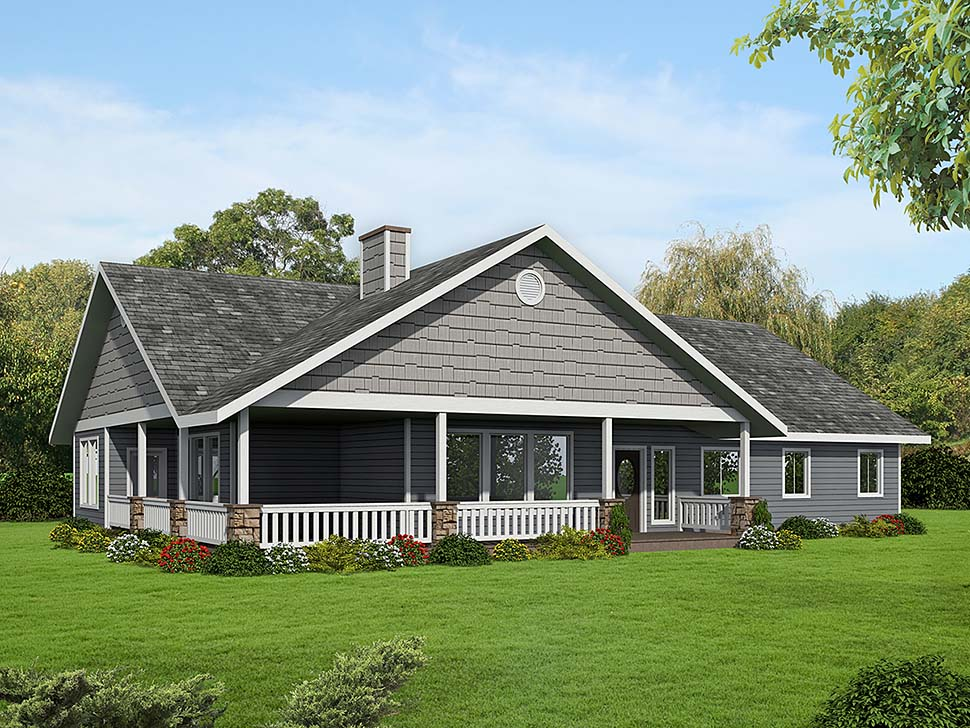 Craftsman, Ranch House Plan 85102 with 3 Beds, 3 Baths Elevation