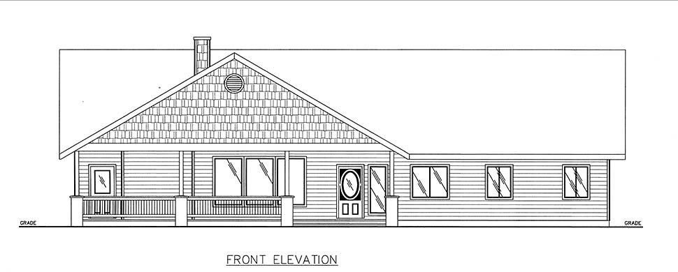 Craftsman, Ranch House Plan 85102 with 3 Beds, 3 Baths Picture 1