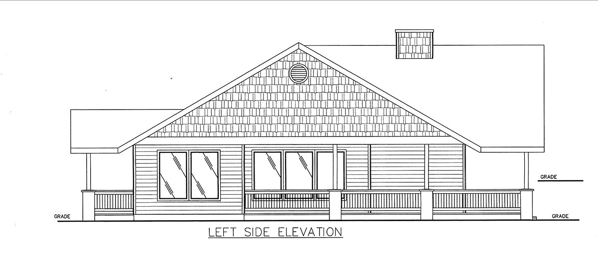 Craftsman, Ranch House Plan 85102 with 3 Beds, 3 Baths Picture 2