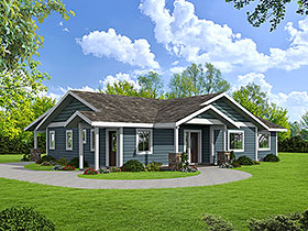 Ranch House Plan 85111 with 3 Beds, 2 Baths Elevation