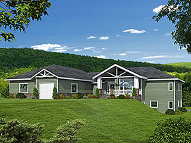 Craftsman House Plan 85112 with 3 Beds, 3 Baths, 3 Car Garage Elevation