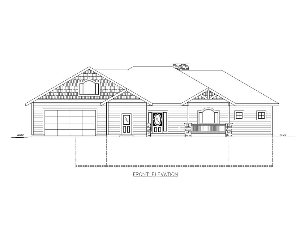 Craftsman House Plan 85115 with 5 Beds, 4 Baths, 1 Car Garage Picture 2