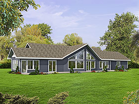 Ranch House Plan 85116 with 2 Beds, 2 Baths, 2 Car Garage Elevation