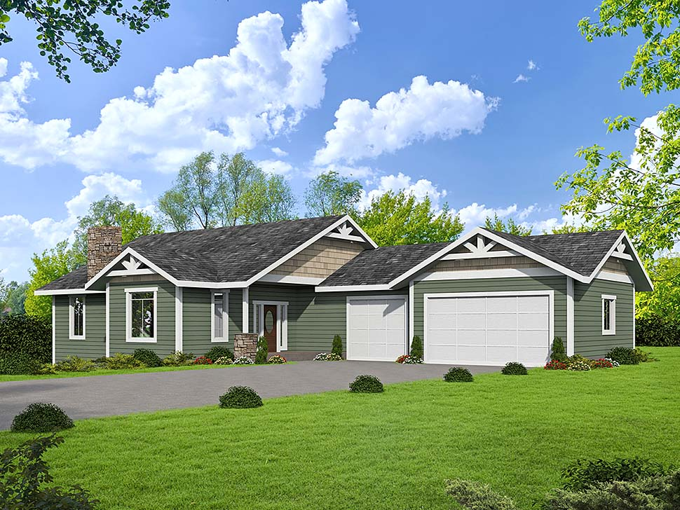 Craftsman House Plan 85117 with 3 Beds, 3 Baths, 2 Car Garage Elevation