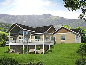 Craftsman House Plan 85118 with 4 Beds, 3 Baths, 2 Car Garage Elevation