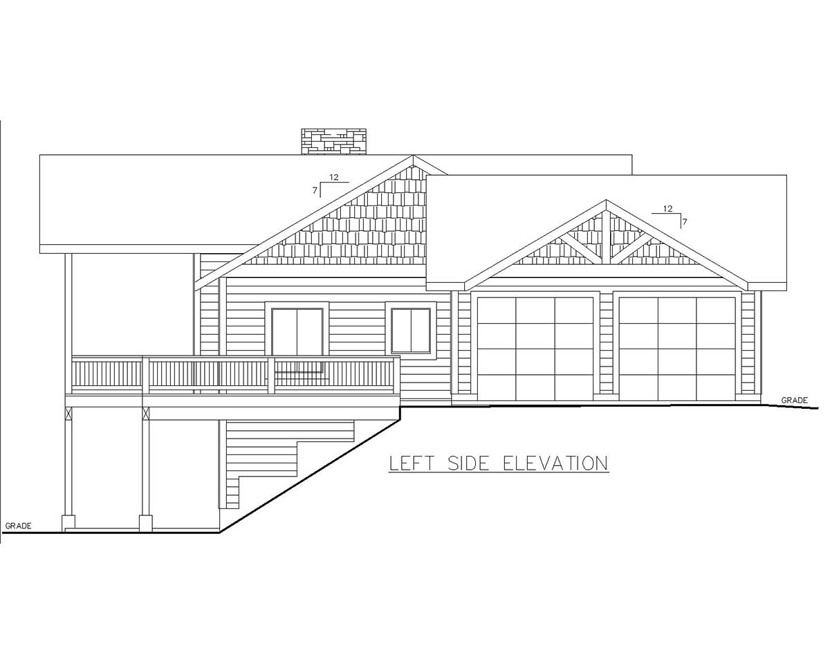 Craftsman House Plan 85118 with 4 Beds, 3 Baths, 2 Car Garage Picture 2