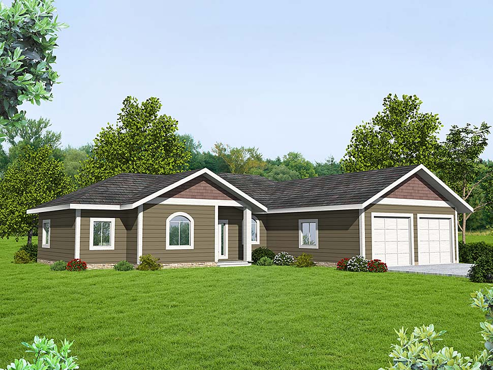 Ranch , Traditional House Plan 85119 with 3 Beds, 2 Baths, 2 Car Garage Elevation