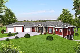 Craftsman , Ranch House Plan 85121 with 3 Beds, 3 Baths, 3 Car Garage Elevation