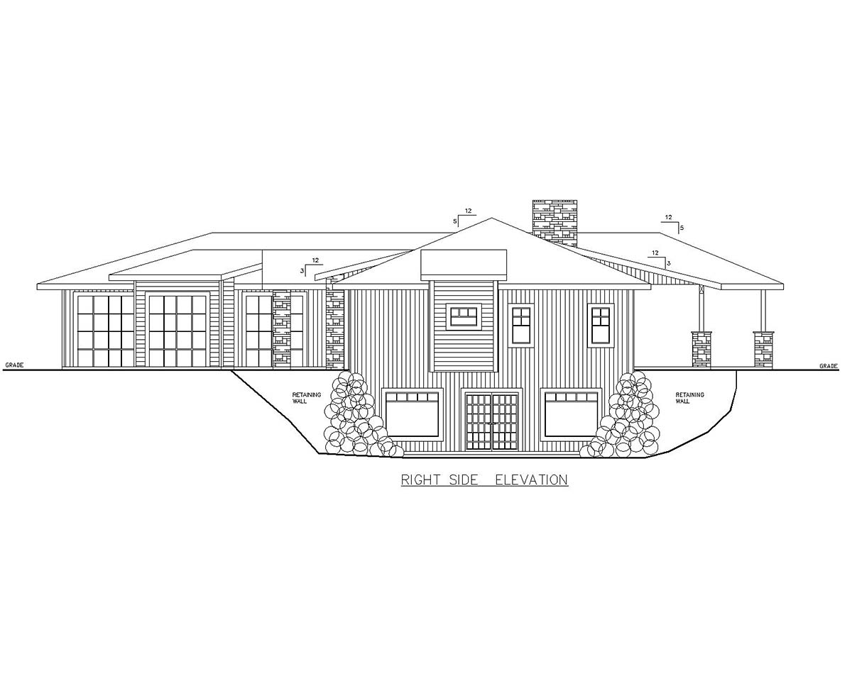 Craftsman, Ranch House Plan 85121 with 3 Beds, 3 Baths, 3 Car Garage Picture 1