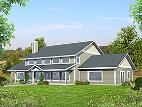 Country House Plan 85122 with 2 Beds, 3 Baths Elevation