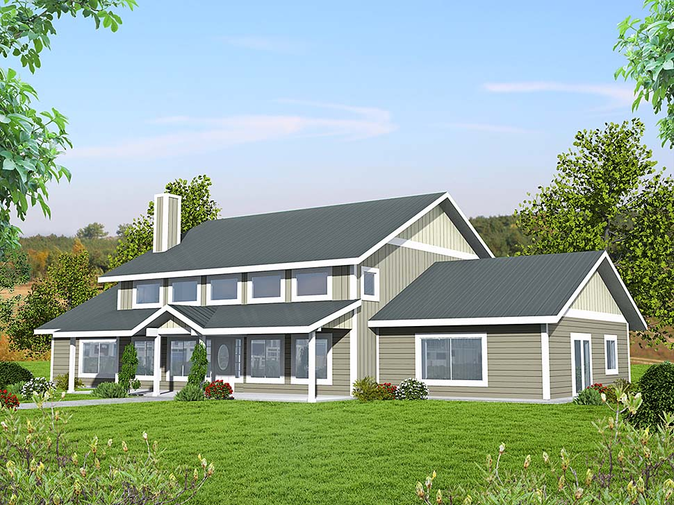 Country House Plan 85122 with 2 Beds, 3 Baths Front Elevation