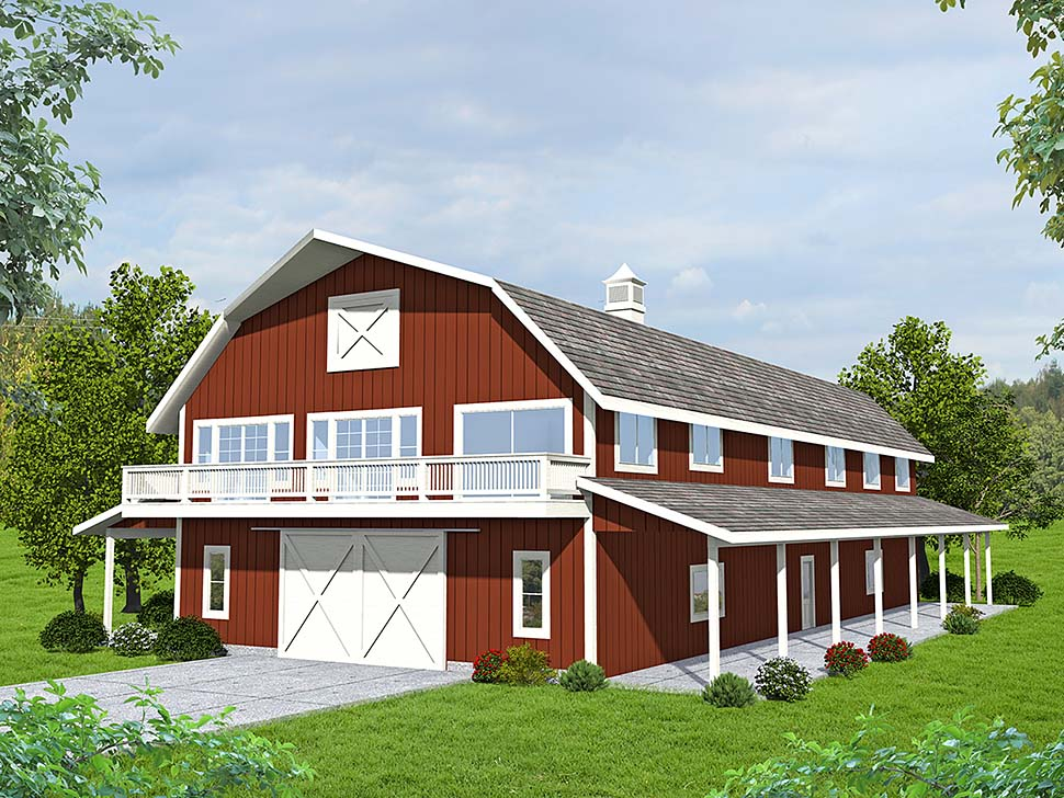 Farmhouse 1 Car Garage Apartment Plan 85124 with 3 Beds , 3 Baths Elevation