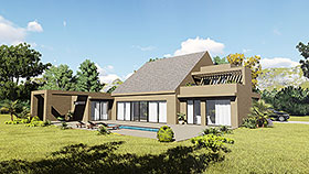 Contemporary , Modern House Plan 85125 with 2 Beds, 4 Baths, 2 Car Garage Elevation