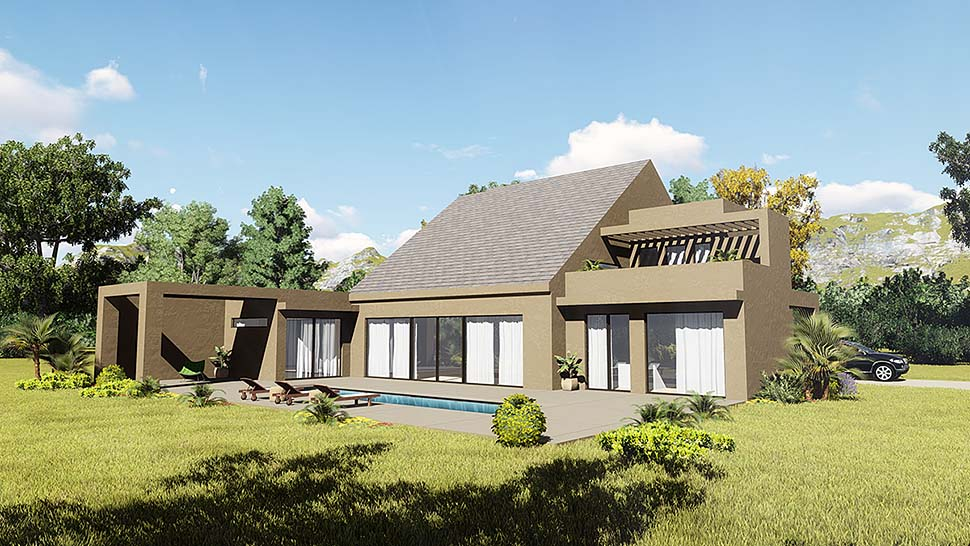 Contemporary Modern Elevation of Plan 85125