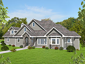Country , Craftsman , Traditional House Plan 85127 with 4 Beds, 4 Baths, 2 Car Garage Elevation
