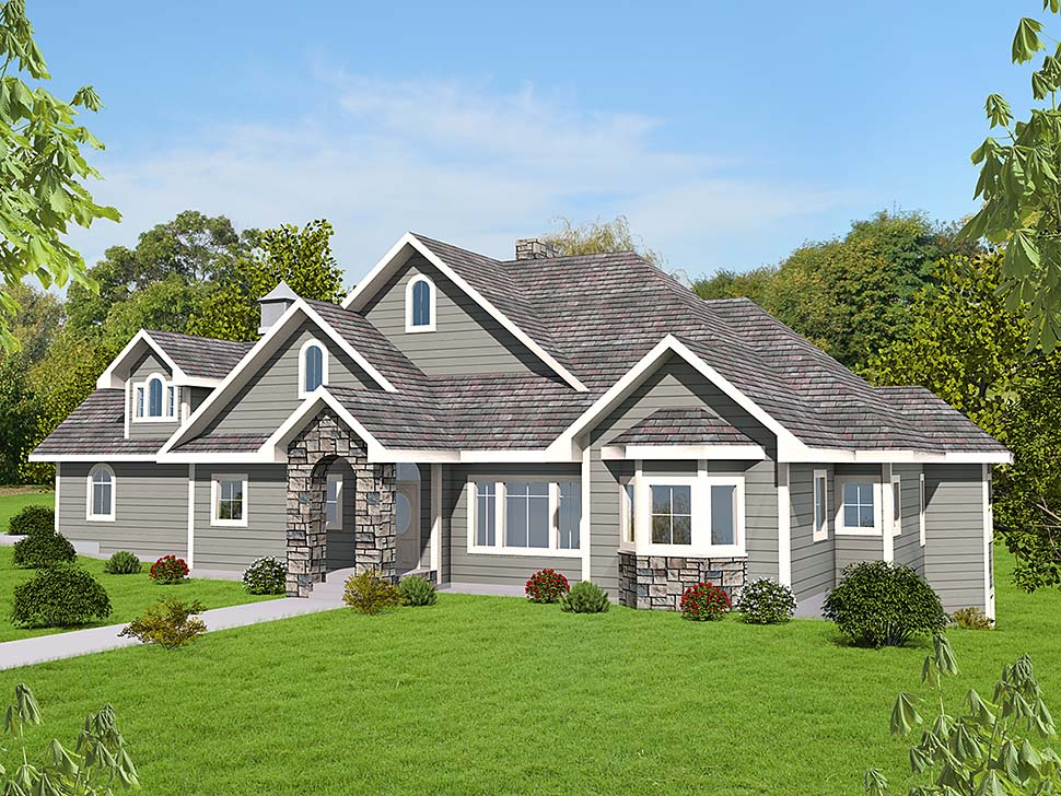 Country Craftsman Traditional Elevation of Plan 85127