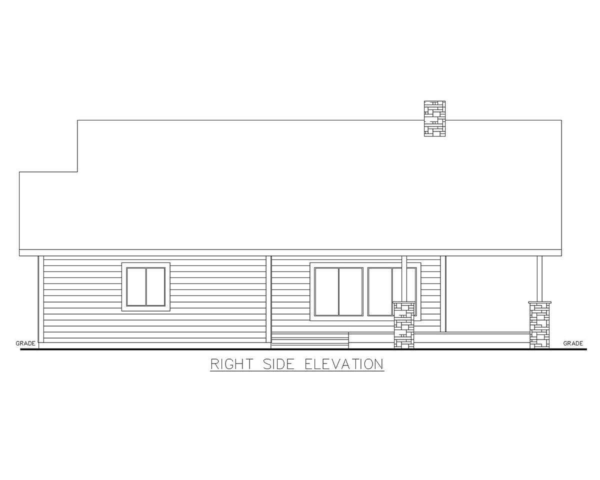 Cabin House Plan 85129 with 2 Beds, 2 Baths Picture 1