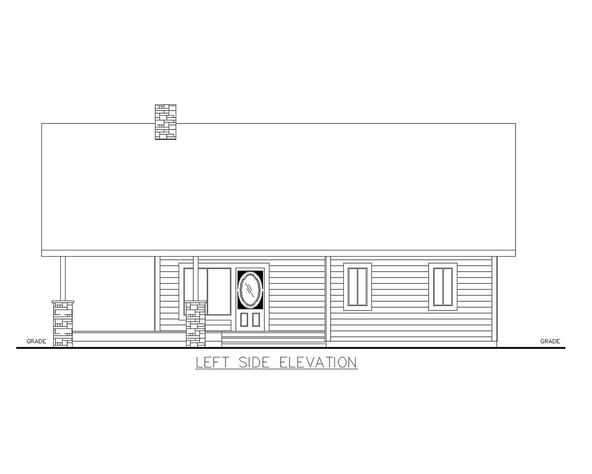 Cabin House Plan 85129 with 2 Beds, 2 Baths Picture 2