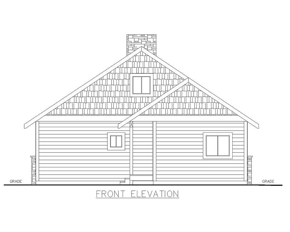Cabin House Plan 85129 with 2 Beds, 2 Baths Picture 3