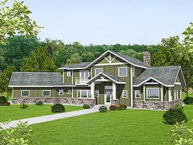 Tudor , Craftsman House Plan 85131 with 3 Beds, 3 Baths, 2 Car Garage Elevation