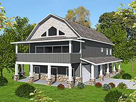 Country House Plan 85133 with 2 Beds, 3 Baths, 2 Car Garage Elevation