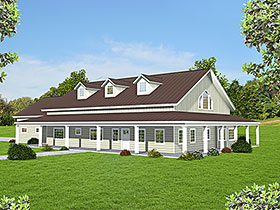 Country , Farmhouse , Ranch House Plan 85138 with 3 Beds, 2 Baths, 2 Car Garage Elevation