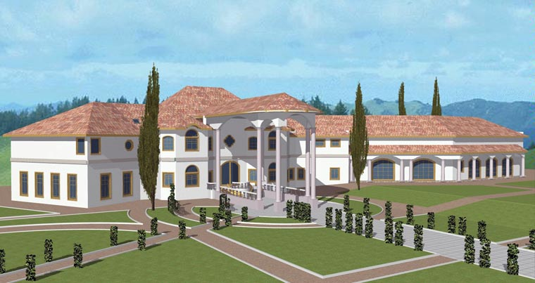 Florida, Mediterranean, Traditional House Plan 85202 with 7 Beds, 7 Baths, 6 Car Garage Elevation