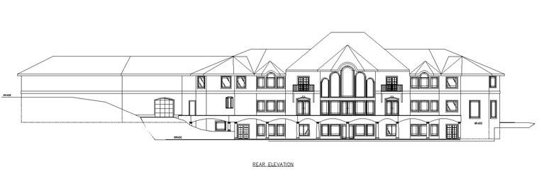 Florida, Mediterranean, Traditional House Plan 85202 with 7 Beds, 7 Baths, 6 Car Garage Rear Elevation